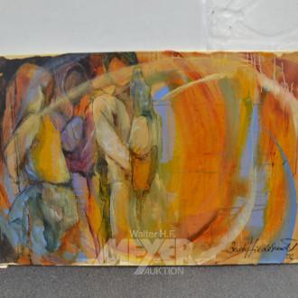 Gemälde  ''Menschen orange''