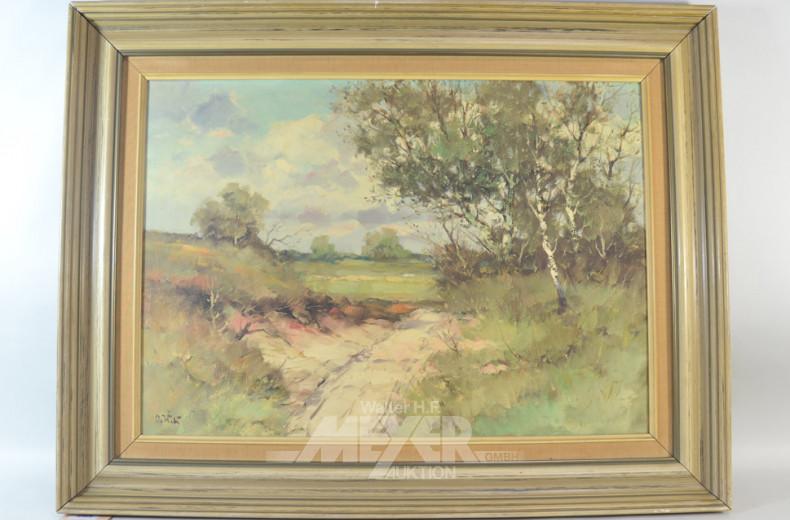 Gemälde  ''Birkenlandschaft''