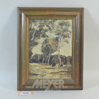 Gemälde  ''Birken''