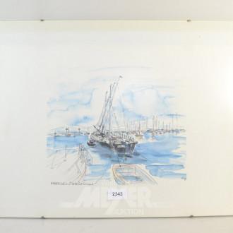 Bild  ''Segelschiff, Hafen''