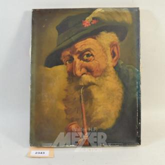 Gemälde  ''alter Mann mit Pfeife''