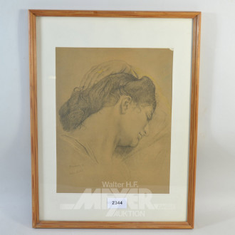 Bild  ''Melancholie, Frauenkopf''