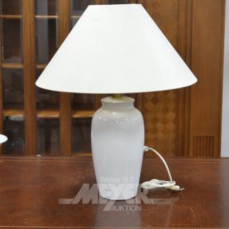 Porz.-Fuß-Vasenlampe, weiß