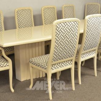 gr. Tischgruppe, 9-tlg., best. aus:
