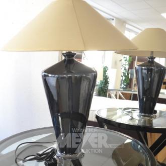 Paar Tisch-Vasenlampen, Porzellanfuß