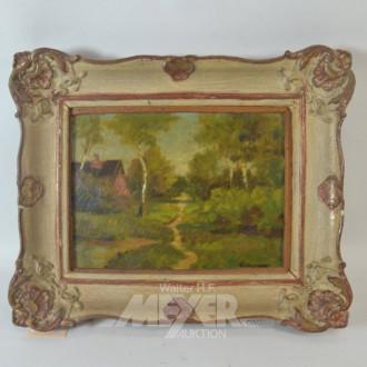 Gemälde ''Haus im Wald''