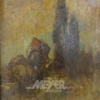 Gemälde ''Reiter vor Lichtung''