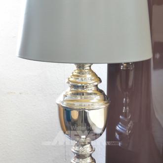 Paar Tischlampen, Metallfuß verchromt,