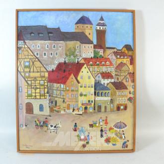 Gemälde ''Nürnberger Marktplatz''