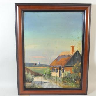 Gemälde ''Romantische Landschaft m. Kate''