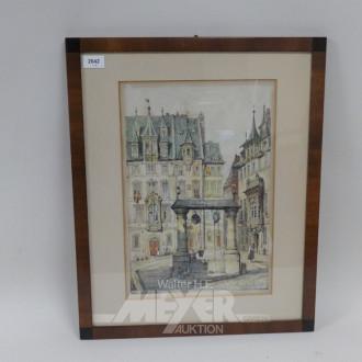 Lithografie ''Marktplatz''