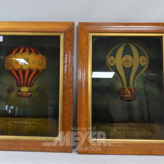 2 Drucke ''Heißluft-Ballons''
