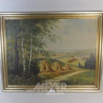 Gemälde ''Felder am Waldrand''