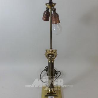 Tischlampe, Säulenfuß, Metall,
