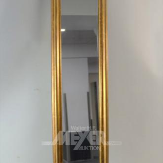 Wandspiegel im Holzrahmen, 117 x 20 cm
