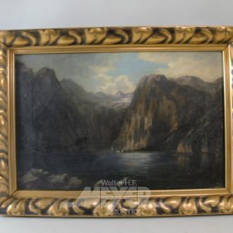 Gemälde ''Gebirgssee'' unsigniert