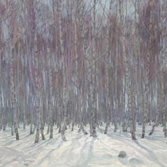 Gemälde, ''winterl. Birkenwald''