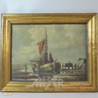 Gemälde ''Fischerboot''