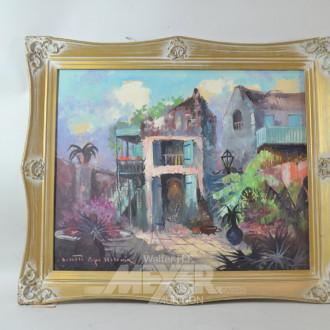 Gemälde ''Hinterhof Idylle''