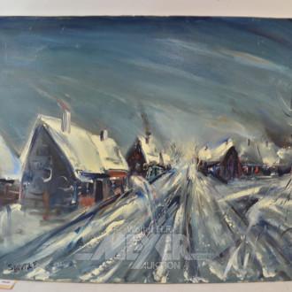 Gemälde ''Winterliche Dorfansicht''