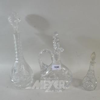 3 div. Kristall-Karaffen