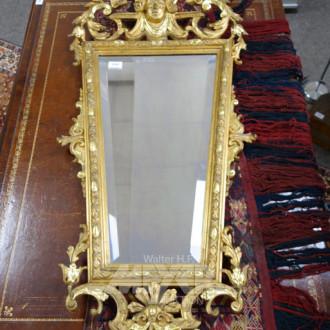antiker Spiegel, 19. Jh., goldfarbiger