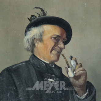 Paar Gemälde ''Pfeifenrauchende Männer''