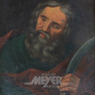 kl. Gemälde ''Abraham mit Messer''