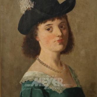 Gemälde ''Portrait einer jungen Dame''