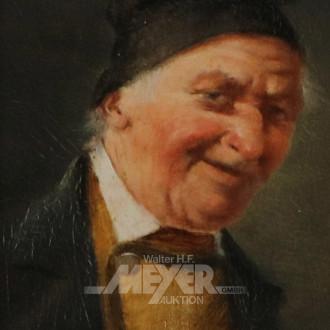 kl. Gemälde ''Herrenportrait''