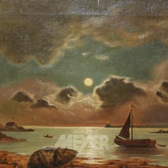 Gemälde ''Abendstimmung mit Fischer-