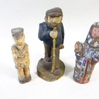 3 kl. Holzschnitzereien: