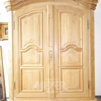 Barock-Stil Garderobenschrank, Eiche