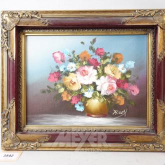 2 Gemälde ''Blumenstillleben''