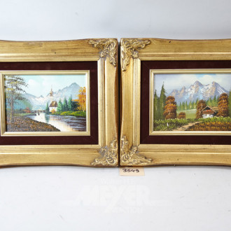 2 Gemälde ''Berglandschaften''