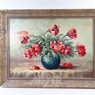 Gemälde ''Mohnblumen in der Vase''