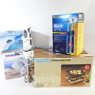 5 Küchen-Eelektrogeräte: Stabmixer,