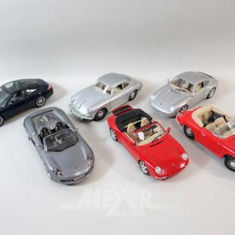 6 Modellautos 1:18 ''Porsche''