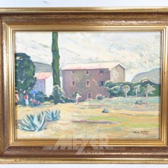 Gemälde '' Dorfansicht''