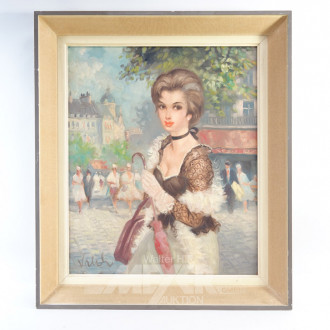 2 Gemälde ''Damen Portraits''