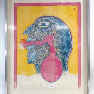 Grafik ''abstraktes Gesicht''