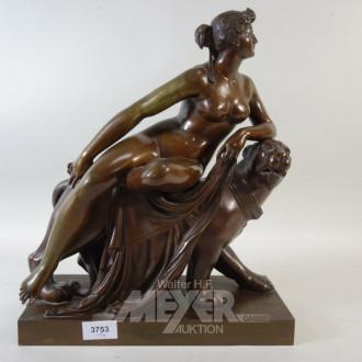 Bronze-Figurengruppe, unsigniert,