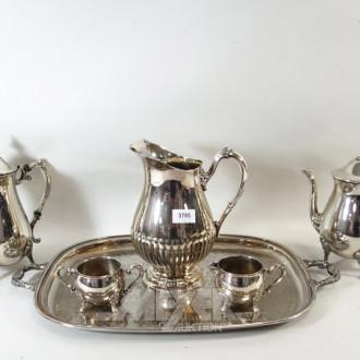 Metall Kaffee-Rahm Set,  6 teilig