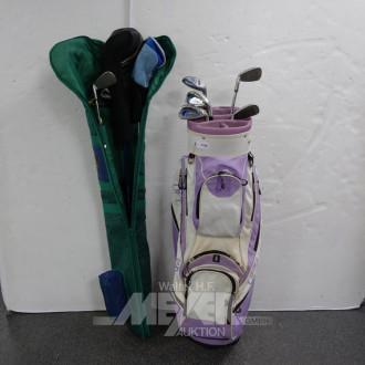 2 Golfbags mit div. Schlägern