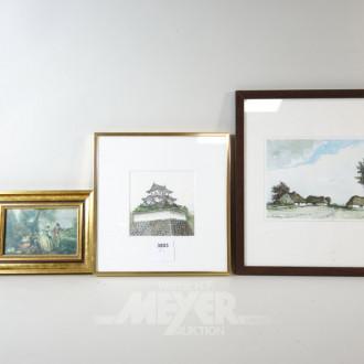 Aquarell ''Asiatisches Haus''
