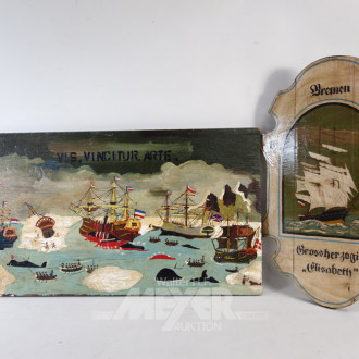 2 Maritime Bilder  ''Großsegler''