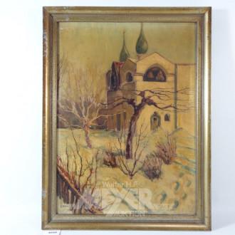 Gemälde ''Kirchenansicht''