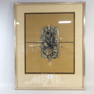 Lithografie ''Abstrakte Darstellung''