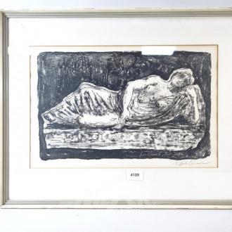 Lithografie ''Die Ruhende''
