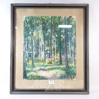 Aquarell ''Wald''